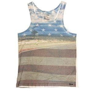 On The Byas American Flag Sleeveless Tanktop Muscl